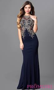 Elizabeth K Bateau Neck Long Prom Dress Promgirl