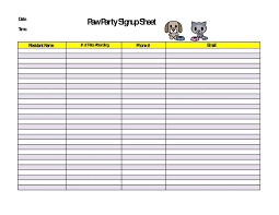 food sign up sheet creative field trip sign up sheet template blank vlashed printable