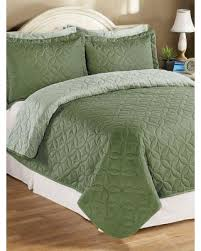 sage green quilt. Unique Sage Reversible Pinsonic Bedspread By Haband Olive GreenSage Size Twin Intended Sage Green Quilt E