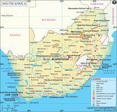 Güney Afrika ve Güney Afrika)Güney Afrika bölümlerin Güney Afrika bölümleri  haritası - Harita