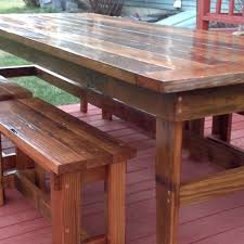 Rustic Redwood Farmhouse Kitchen Table And Chairs High Led House