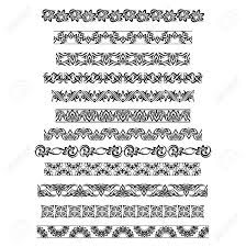 Border Patterns Mesmerizing Thai Ornament Border Patterns With Vector Thai Floral Motifs