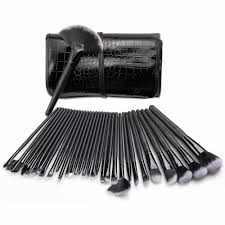 professional 32 pcs makeup brushes set for women fashion soft face lip eyebrow shadow make up brush set kit pouch bag in eye shadow applicator from beauty