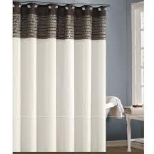 brown and cream shower curtain. cream, chocolate brown, and mocha shower curtain with sequins. image 1 brown cream v