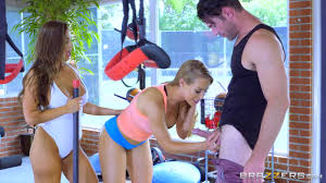 BigTits In Sports Nicole Aniston and Abigail Mac Gym and Juice.