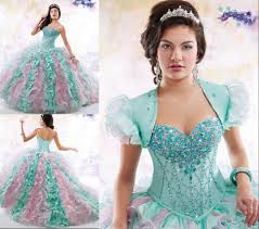 2016 Quinceanera Dresses Mint Pink Mix Colors Formal Girl S