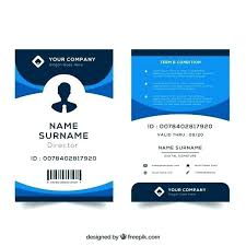 Employee Id Badge Template New Work Free Card For Resume