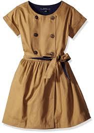 little girls toddler peacoat dress with sash