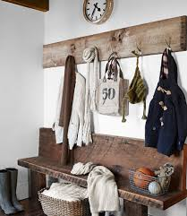 Vintage Style Coat Rack Beautiful white and wood vintage inspired home Mudroom Perfect 80