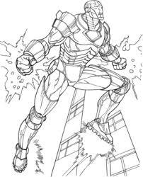 Coloriage A Imprimer The Avengers Iron Man En Vol Gratuit Et Colorier