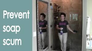 keep glass shower doors clean how to renee romeo