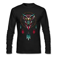 Dream Catcher Shirt Diy Best Amazon DIY Owl Dream Catcher Pattern For Men's Long Sleeve T