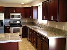 light cherry cabinets with gray walls kitchen design ideas wood quartz black granite and grey