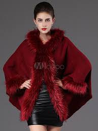 hooded winter coat faux fur long sleeve open front luxurious cape coat for women no