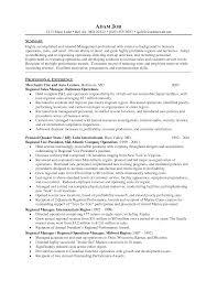 Regional Manager Resume Regional Manager Resume Resume Template 1
