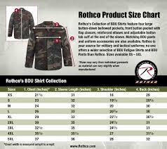 Rothco Pants Size Chart Rothco Bdu Shirt Size Chart Uniform Tactical Supply