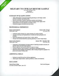 Military Resume Builder Military Veteran Resume Examples Military To
