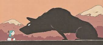 """Barghest by Luke Pearson, from """"Hilda and the Black Hound"""" 