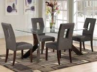 dining room chairs set of 4 new dream furniture modern teak wood 4 seater gl top