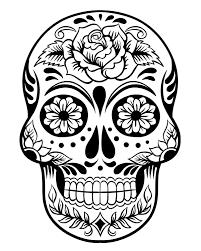 Small Picture Day Of The Dead Skull Coloring Pages GetColoringPagescom