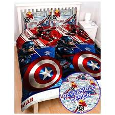 unusual novelty bedding marvel captain civil war double rotary marvel comics bedding and curtains