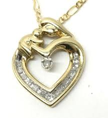 10k gold gen diamond mother child
