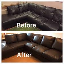 Leather Sofa Makeover Sofa Recovering Glasgow Edinburgh Central Scotland Sofa Repadding