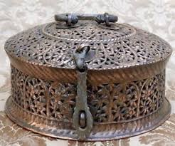 Decorative Boxes For Baked Goods Antique India Paan Daan Betel Leaf Storage Brass Copper Container 60