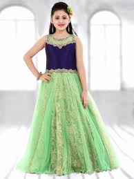 Gown Design Latest 2019 Green Net Designer Gown Kids Dress Collection Gowns For