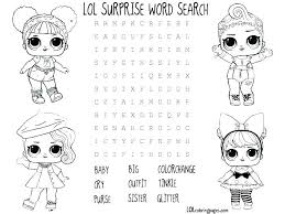 Lol Doll Coloring Pages That You Can Print Out Print This Coloring