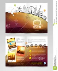 Travel Brochure Template Or Flyer Design. Stock Illustration ...
