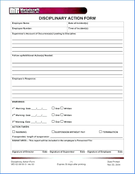 Form To Write Up An Employee Template Benefits Of Using An Employee Write Up Form