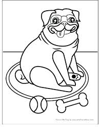 Pug Coloring Pages Pugs Coloring Pages Pug Dog Colouring Page Cute
