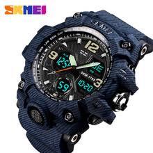 <b>SKMEI</b> Luxury Denim Style Sports <b>Watches Men</b> Fashion Digital ...