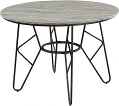emmett stone gray and black 42 round dining table main image