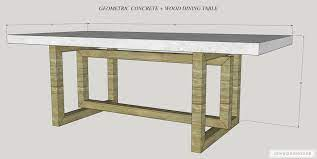 diy concrete and wood dining table