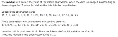 What Is Median Math Data Handling 2772737