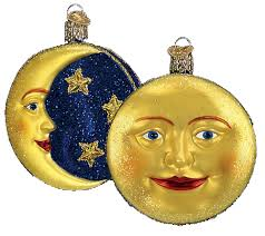 Man in the Moon Glass Ornament