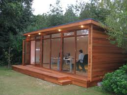 Small Picture Wood clad garden room Awesome outdoor office ideas Could also