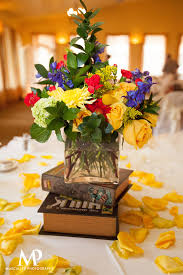 Colorful Centerpiece Surrounded by Petals