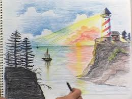 preview scenery drawing art cles seton educational a