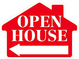 Open House Sign In Open House Sign With Arrow House Shape Corrugated Sign
