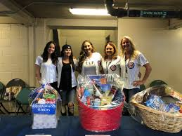 chicago cubs on twitter cubs wives are auctioning off cubs favorite things baskets at the gallagherwaychi gate until the 7th inning