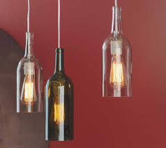 wine bottle lighting. How To Make A Hanging Lamp From Wine Bottle Lighting