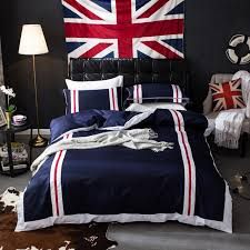 blue white red plaid bedding sets 4pc duvet cover flat sheet pillowcase queen king