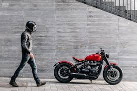 triumph bobber custom built by modification motorcycles a red hot