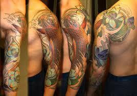 фото тату карп в стиле японский от мастера вячеслав сазанов