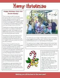Xmas Newsletter Template Newsletter Template Family Newsletter