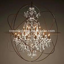 charming large orb chandelier n2027237 north style big orb industrial cage crystal chandelier large hanging light
