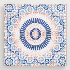 mandala terracotta by oliver g wall art on wood mandala wall art large with vintage wall art large mirrors and unique picture frames world market